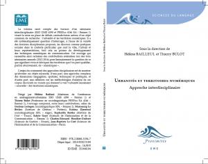 Couverture Ouvrage H. Bailleul, T. Bulot, Urbanités numériques, 2015